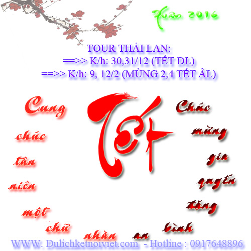 Tour Thai Lan khoi hanh Tet Am Lich